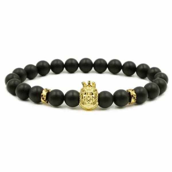 Gouden leeuw armband te koop bij Laconic