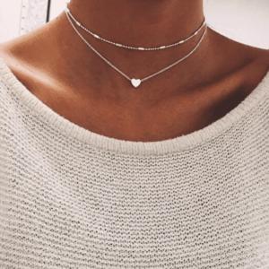 Zilveren Multilaagse Ketting Hart te koop bij Laconic