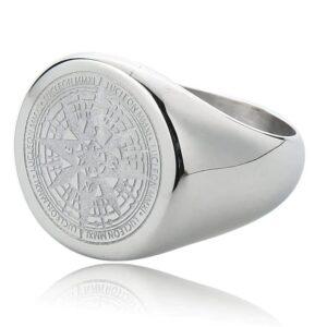 Staal Zilveren Kompas Ring kopen bij Laconic