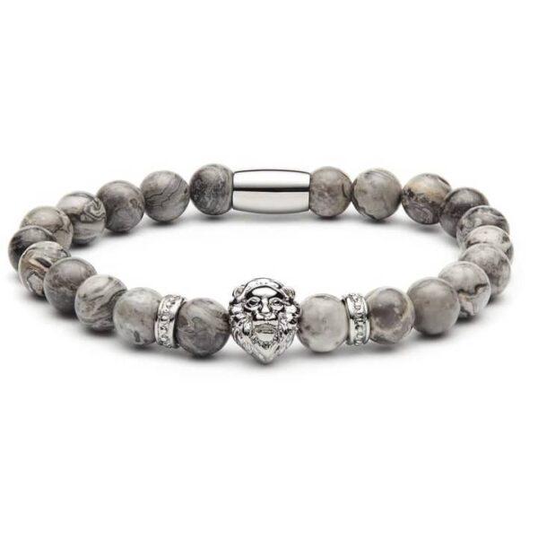 Marmeren & Zilveren Armband Leeuw te koop bij Laconic